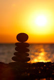Zen stones. At the beach Royalty Free Stock Photography
