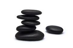 Zen stones. Black stones in balance zen concept Stock Image
