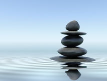 Zen stones. In water - peace concept