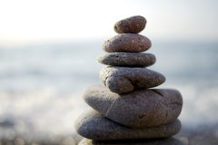 Zen stones. At the sea Stock Image