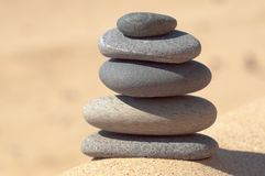 Zen stones. On a sand Royalty Free Stock Photo