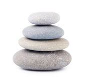 Zen stones. Isolated on white Royalty Free Stock Photo