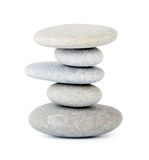 Zen stones. Stones isolated on white background Stock Photography