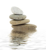 Zen stones. Zen spa stones studio isolated Stock Photography