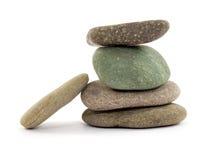 Zen stones. Zen spa stones studio isolated Royalty Free Stock Image