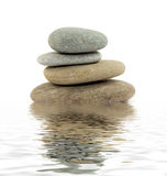 Zen stones. Zen spa stones studio isolated Stock Photos
