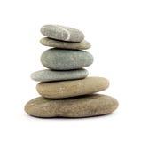 Zen stones. Zen spa stones studio isolated Royalty Free Stock Photos