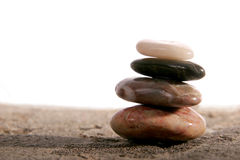 Zen stones. With room for text stock image