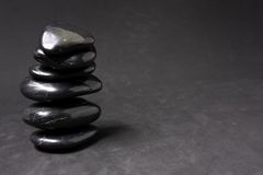 Zen Stones. On a gray background Stock Photos