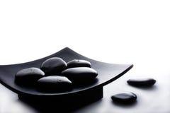 Zen stones. In  oriental tray Stock Photography