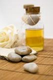 Zen stones and accessories for wellness Stock Photos