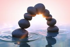 Zen stones. Arc Royalty Free Stock Images
