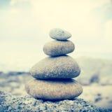 Zen Stones. Background,Dramatic Look Stock Image