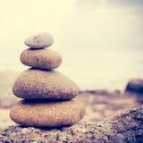 Zen Stones. Background,Dramatic Look Stock Photos