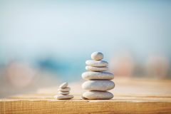 A zen stones background white and black Royalty Free Stock Photos