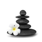 Zen stones balance concept. Zen mediation spa relax concept background - zen stones balance isolated on white Royalty Free Stock Photos