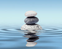 Zen stones balance concept Royalty Free Stock Photos