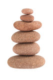 Zen stones balance. Isolated over white Stock Images
