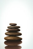 Zen stones balancing on white background Stock Photography