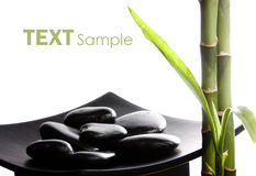 Zen stones and bamboo royalty free illustration