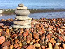 Zen stones on the beach Stock Images