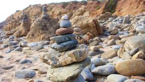 Zen stones on beach for perfect meditation Royalty Free Stock Photo