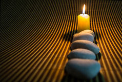 Zen Stones and Candle III Royalty Free Stock Photo