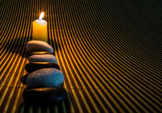 Zen Stones and Candle IV Royalty Free Stock Photography