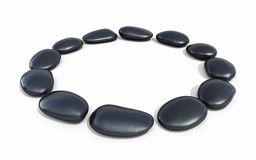 Zen stones circle form. 3d render Zen stones circle form ( on white and clipping path Stock Photo