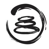 Zen Stones Circle Ink Brush Vector Royalty Free Stock Image