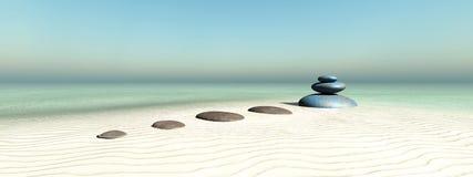 Zen stones. Concept in 3d Stock Image