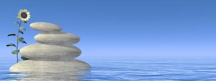 Zen stones - 3D render Stock Image