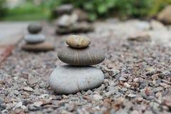 Zen stones in the garden Royalty Free Stock Image