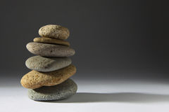 Zen Stones on Grey Royalty Free Stock Photo