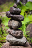 Zen stones in Iao Valley, Maui royalty free stock images