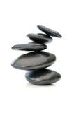 Zen stones isolated Royalty Free Stock Photo