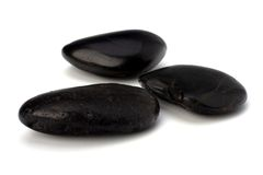 Zen stones isolated on the white background Stock Photo
