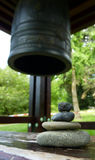 Zen stones and japenese bell Stock Photo