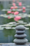 Zen Stones and lilies royalty free stock photos