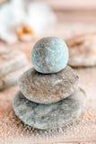 Zen stones at a marine spa Royalty Free Stock Photos