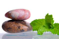 Zen Stones and Mint Stock Images
