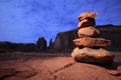 Zen Stones in Monument Valley Royalty Free Stock Image