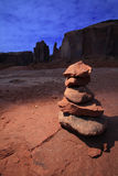 Zen Stones in Monument Valley Royalty Free Stock Photos