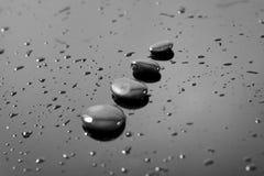 Zen stones over black Royalty Free Stock Photo