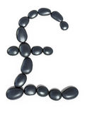 Zen stones pound form Stock Images