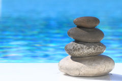 Zen stones pyramid Royalty Free Stock Image
