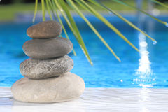 Zen stones pyramid Royalty Free Stock Photo