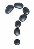 Zen stones Question mark form Royalty Free Stock Photos