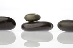 Zen Stones with Reflections Stock Photography