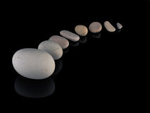 Zen stones rocks spa στο mindfulness σωρών Στοκ φωτογραφία με δικαίωμα ελεύθερης χρήσης